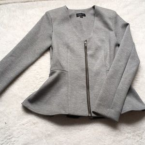EUC Topshop grey and black blazer peplum jacket